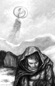 Děti vánice ilustrace #2