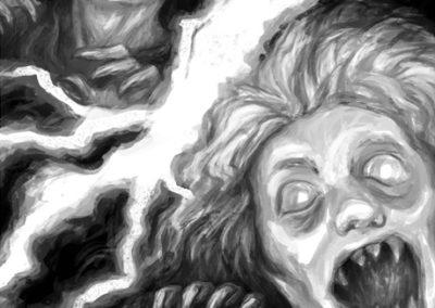 Děti vánice ilustrace #4